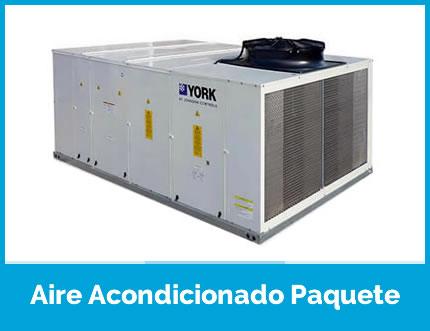 ¿Qué es un aire acondicionado paquete?